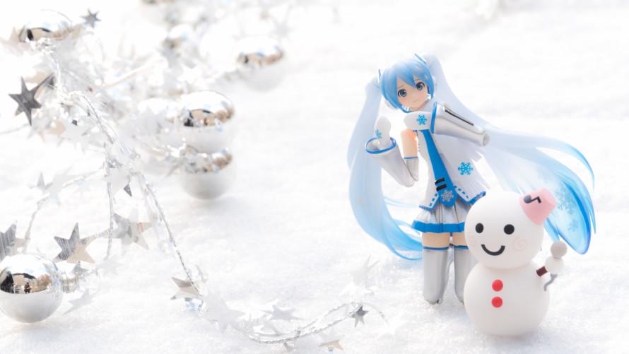 Snow Miku and Snow man